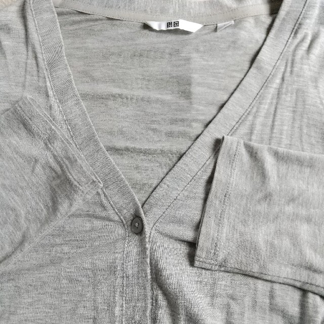 UNIQLO(ユニクロ)のカーディガン グレー Mサイズ レディースのトップス(カーディガン)の商品写真