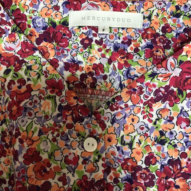 MERCURYDUO(マーキュリーデュオ)の値下げ 美品 花柄ワンピース MERCURYDUO レディースのワンピース(ひざ丈ワンピース)の商品写真
