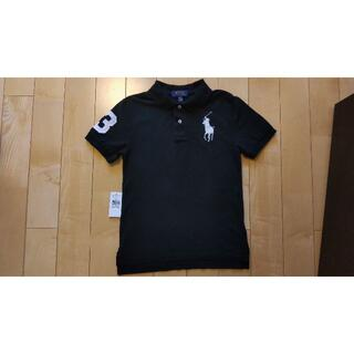POLO RALPH LAUREN - 数回着用 ラルフローレンのビッグポニーポロシャツ ブラック M(10-12)