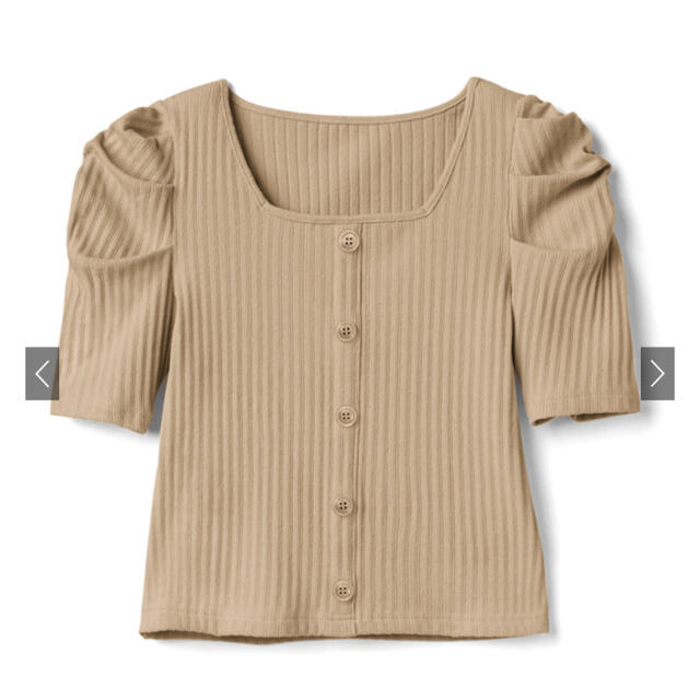 GRL(グレイル)のGRL スクエアネックパワショルトップス レディースのトップス(カットソー(半袖/袖なし))の商品写真