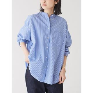 【CRAFT STANDARD BOUTIQUE】バンドカラーシャツ ストライプ(シャツ/ブラウス(長袖/七分))