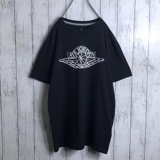 NIKE(ナイキ)の【美品】ナイキ ジョーダン JORDAN ウイングロゴ Tシャツ M 黒 メンズのトップス(Tシャツ/カットソー(半袖/袖なし))の商品写真