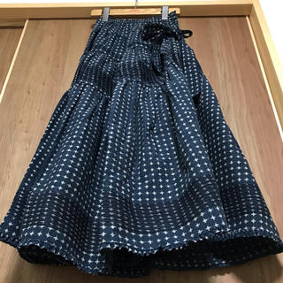 カネコイサオ(KANEKO ISAO)の☆未着用 ワンダフルワールド 和柄 絣 スカート(ロングスカート)