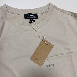 A.P.C - a.p.c. アーペーセー 刺繍Tシャツ 新色ベージュ xs