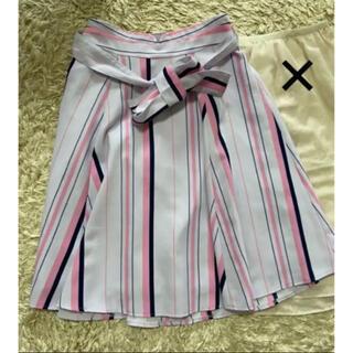 MISCH MASCH - ミッシュマッシュ 紫ストライプスカート Mサイズ