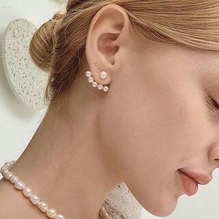 Chesty - 2way pearl ear jacket pierce s925 post