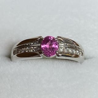 ピンクサファイア ダイヤモンド プラチナリング