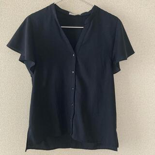 オペークドットクリップ(OPAQUE.CLIP)の美品 ネイビーカットソー(カットソー(半袖/袖なし))