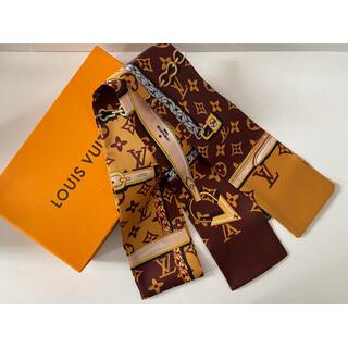 ディオール(Dior)のシルクタッチスカーフ ブラウン(バンダナ/スカーフ)