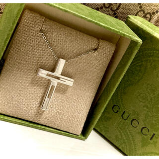 Gucci - GUCCI/グッチ カットアウトG/クロス/十字架 ネックレス/ペンダント