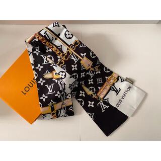 ディオール(Dior)のシルクタッチスカーフ ブラック(バンダナ/スカーフ)