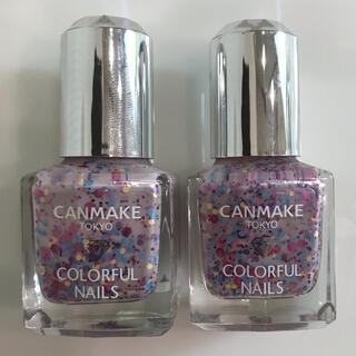 キャンメイク(CANMAKE)の2本セット キャンメイク CANMAKE カラフルネイルズ 82 ピンク ラメ(マニキュア)