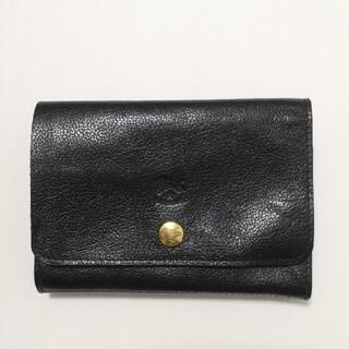 IL BISONTE - イルビゾンテ  バケッタ 折り財布 ブラック