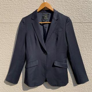 ニジュウサンク(23区)の23区 ジャケット ストライプ ダークネイビー 36(テーラードジャケット)