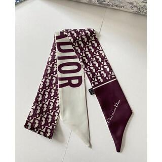 Dior - ロゴ柄スカーフ ボルドー