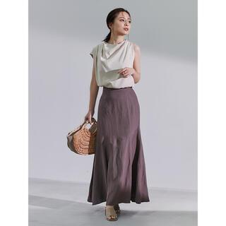 Lily Brown - anuans リネン混マーメードスカート brown sサイズ