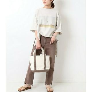 フレームワーク(FRAMeWORK)のFRAMeWORKアシメフォトプリントTシャツ(Tシャツ(半袖/袖なし))