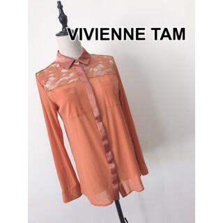 ヴィヴィアンタム(VIVIENNE TAM)のVIVIENNE TAM レース ブラウス(シャツ/ブラウス(長袖/七分))