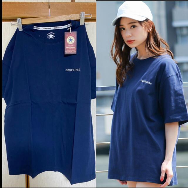 CONVERSE(コンバース)のCONVERSE♡新品♡Tシャツ NVY レディースのトップス(Tシャツ(半袖/袖なし))の商品写真