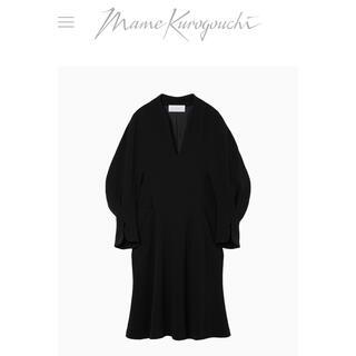mame - mame kurogouchi マメ ボリュームスリーブドレス ワンピース  黒