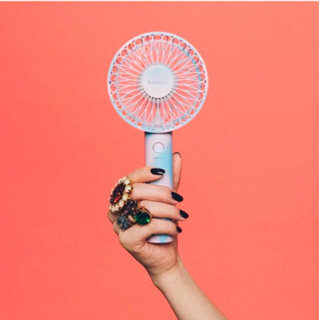 フランフラン(Francfranc)のFrancFranc 2021年 フレ ハンディファン マーブルブルー 扇風機(扇風機)