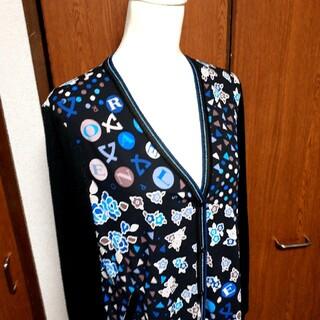 LEONARD - 美品 レオナール カーディガン 羽織り 花柄 フラワー 総柄 大きいサイズ XL