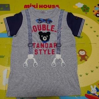ミキハウス(mikihouse)のサスペンダー&蝶ネクタイ Tシャツ☆ミキハウス☆ダブルB☆110(Tシャツ/カットソー)