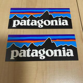パタゴニア(patagonia)のパタゴニア ステッカー長方形2枚(登山用品)