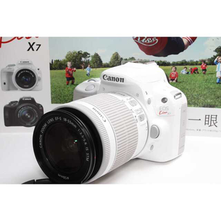 キヤノン(Canon)の❤️超人気ホワイトカラー❤️Canon Kiss X7 標準レンズキット(デジタル一眼)