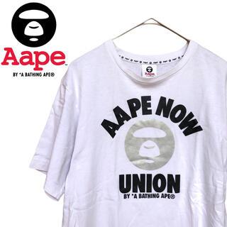 A BATHING APE - AAPE BY A BATHING APE 白Tシャツ Mサイズ エイプ