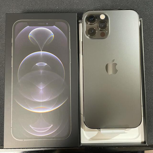 iPhone(アイフォーン)の未使用 iphone12 pro グラファイト 128GB simフリー スマホ/家電/カメラのスマートフォン/携帯電話(スマートフォン本体)の商品写真