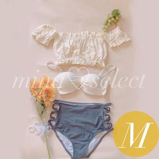 レディースフリル水着3点セット♡セパレート♡ビキニ♡可愛い♡韓国♡体型カバー♡白