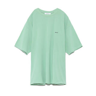 ミラオーウェン(Mila Owen)の美品♡Mila Owen FLOWERカラーTシャツ ミント グリーン(Tシャツ(半袖/袖なし))