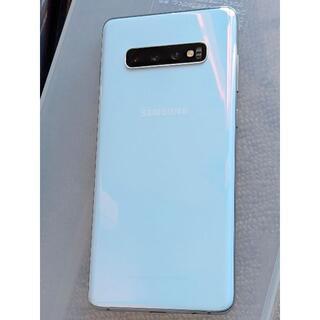 サムスン(SAMSUNG)のGalaxy S10+ PrismWhite SIMフリー(スマートフォン本体)