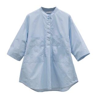 美品!YONFA half sleeve shirt (sky blue)
