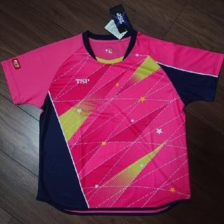 TSP - 卓球ウェア🏓 TSP ユニフォーム レディースフリッシュシャツ  L  ピンク