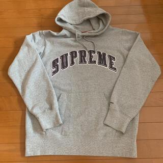 Supreme - supreme パーカー グレー L