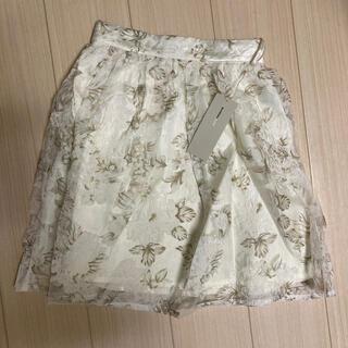 オリーブデオリーブ(OLIVEdesOLIVE)の新品♫オーガンジー花柄スカート(ひざ丈スカート)