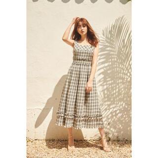 herlipto Summer Tweed Midi Dress  ベージュ S