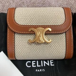 celine - 美CELINEフラップウォレット(トリオンフ) ミニ財布