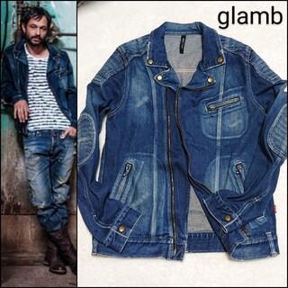 glamb - glamb❇️ダメージ加工 デニム ライダースジャケット 限定モデル