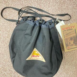 ケルティ(KELTY)の一時値下げ 新品未使用 ケルティ KELTY 巾着 ブラック ショルダー 古着(ショルダーバッグ)