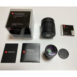 ライカ(LEICA)のLeica Summilux 50mm ASPH. 美品 フィルター付き(レンズ(単焦点))