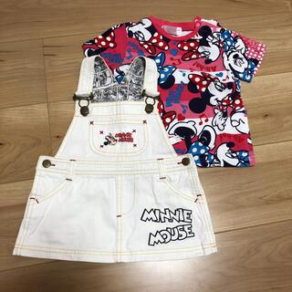 Disney - ミニーちゃん ジャンパースカート Tシャツ