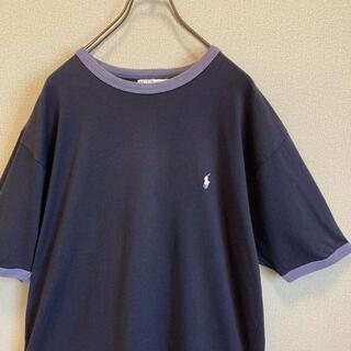 POLO RALPH LAUREN - 90s Ralph Lauren リンガー Tシャツ ポニー刺繍 ゆるだぼ