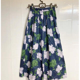 MERCURYDUO - 大花柄のふんわりロングスカート