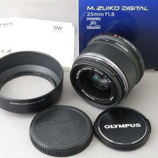 オリンパス(OLYMPUS)のオリンパス M.ZUIKO DIGITAL25mm F1.8BLACK(レンズ(単焦点))