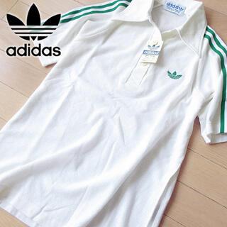 adidas - 新品タグ付 adidas 80's レディース 半袖ポロシャツ ホワイト