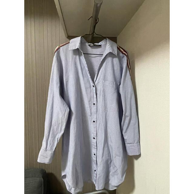 ZARA(ザラ)のシャツ シャツワンピース ロング丈 ZARA レディースのトップス(シャツ/ブラウス(長袖/七分))の商品写真