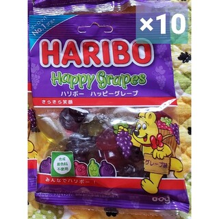 カルディ(KALDI)の新品 10個 ハッピーグレープ 80g 2020発売 HARIBO ハリボー(菓子/デザート)